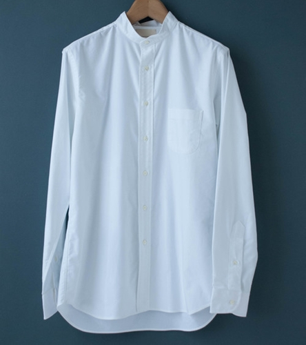003 Band Collar Oxford Shirt C'h'c'm'