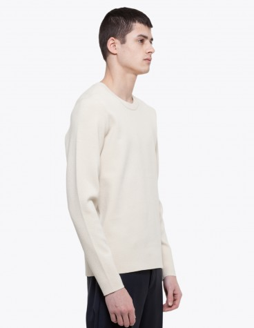 Acne Lang Sweater Light Beige Tres Bien