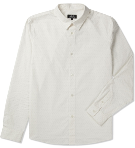 A.P.C. Ecru Chemise Casual Shirt Hypebeast Store. Shop Online For Men's Fashion Streetwear Sneakers Accessories