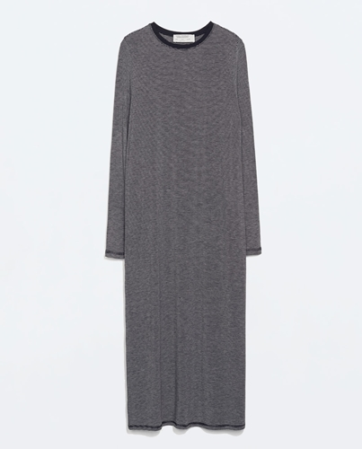Long Striped Dress Trf Outerwear Woman Zara United Kingdom