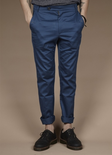 Percival Clothing Skinny Chinos Cobalt Blue Trousers Shorts