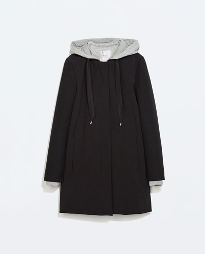 Bowling Coat Trf Outerwear Woman Zara United Kingdom