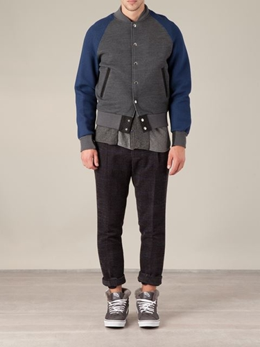 Sacai Contrasting Sleeves Bomber Jacket L'eclaireur Farfetch.Com