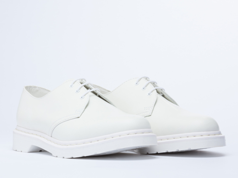 Dr. Martens 1461 In White Monochrome At Solestruck.Com