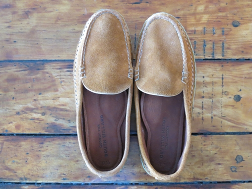 South Willard brown suede leather sole slip on