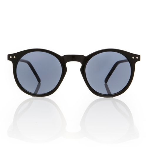 O'malley Sunglasses Black Round Frame Smoke By Americandeadstock