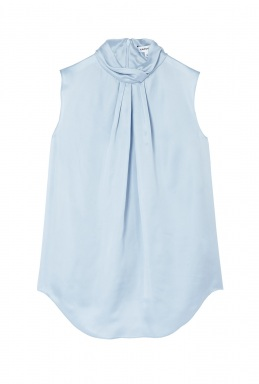 Carven Light Blue Technical Satin Top By Carven Rtw Pre
