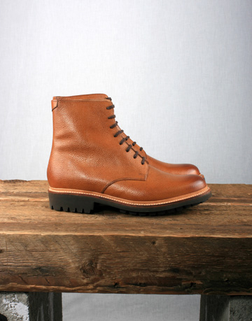 Grenson Hadley Derby Boot Tan AW12 Grenson Hadley Derby Boot with Commando Sole in Tan Calf Leather