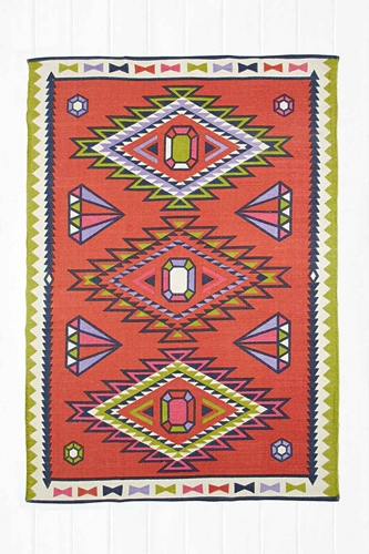 Diamond Kilim 5X7 Rug In Multicolour Urban Outfitters