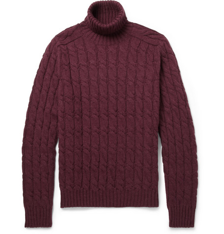 Gucci Cable Knit Rollneck Sweater Mr Porter