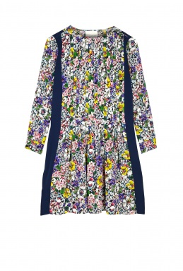 Band Of Outsiders Floral Longsleeve Trapeze Dress