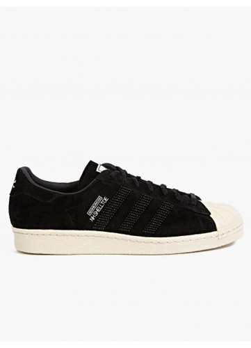 Adidas Originals X Neighborhood Men's 'Shelltoe' Black Suede Sneakers Oki Ni