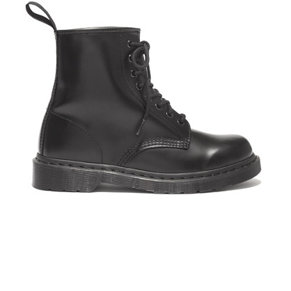 Dr. Martens 1460 Mono Boots In Classic Black Boots Madewell