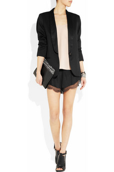 Lover Silk and lace shorts NET A PORTER COM