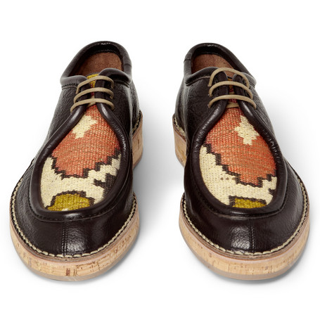 Burberry Prorsum Woven Top Cork Sole Leather Shoes Mr Porter