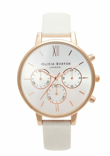 Olivia Burton Chrono Detail Watch Rose Gold Mink
