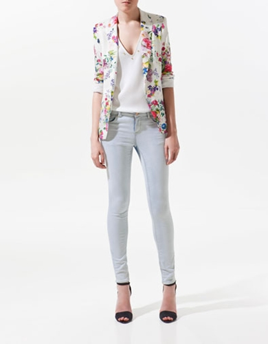 PRINTED JOGGING BLAZER Woman ZARA United States