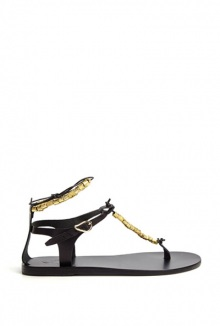 Chrysso Gold Beaded Sandal By Ancient Greek Sandals
