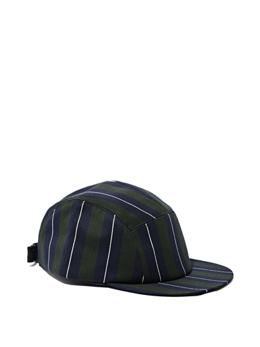 Larose Mens Striped 5 Panel Cap Ln Cc