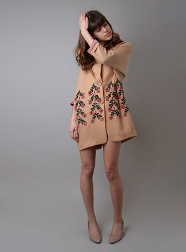 Couverture And The Garbstore Twins Floral Embroidered Cotton Coat