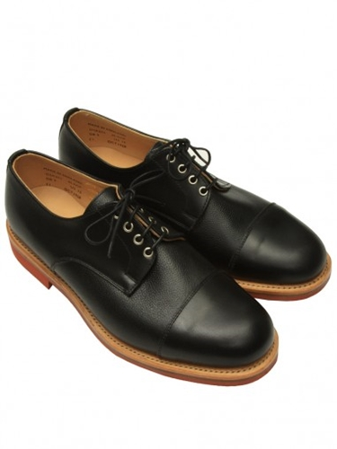 Oliver Spencer Toe Cap Derby Shoe Black Leather View All Oliver Spencer