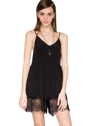 Black Lace Romper Lace Playsuit Summer Rompers 75