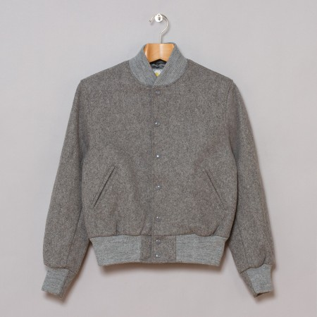 Golden Bear All Wool Varsity Jacket Grey Oi Polloi