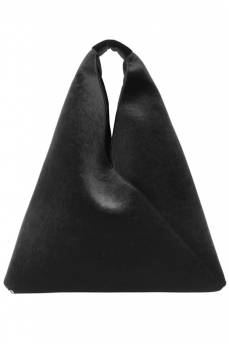 My Chameleon Mm6 Maison Martin Margiela Triangle Velvet Shopper Clutch