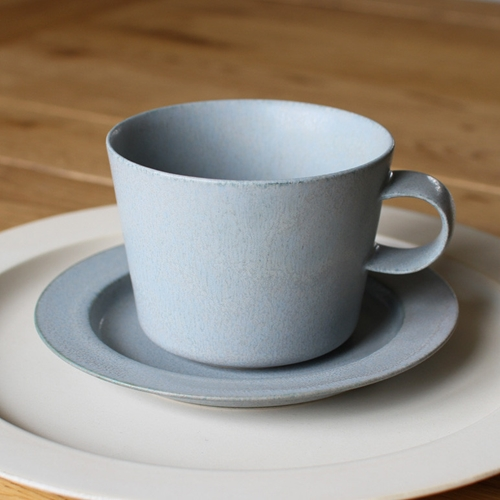 Cup And Gouter Unjour Matin In Smoke Blue Oen Shop