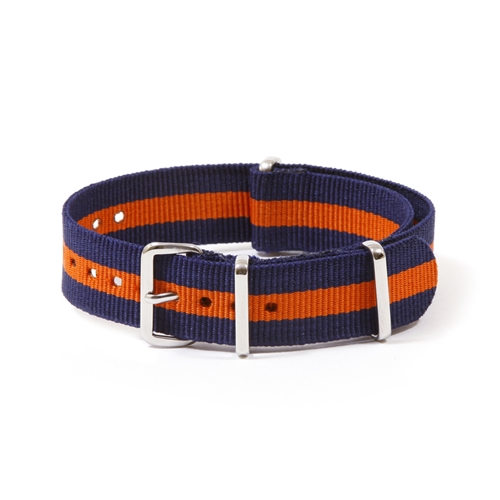 Navy and Orange Nato Strap TKWB005 10 00 The Knottery Attainable Style