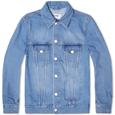 Acne Jam Light Vintage Denim Jacket Washed Indigo