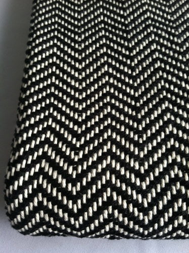 Chevron Woven Blanket Black And White By Bristolloomsri On Etsy