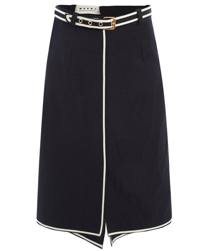 Belted Black Crossover Crinkle Skirt Marni Edition Shop more skirts online from the Marni Edition collection online at Liberty co uk
