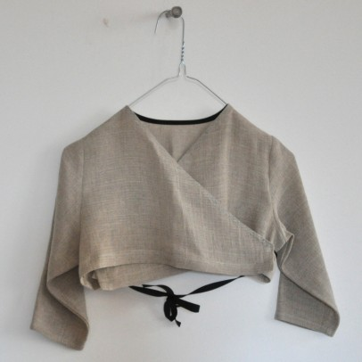Wrap Over Top Natural Fabric