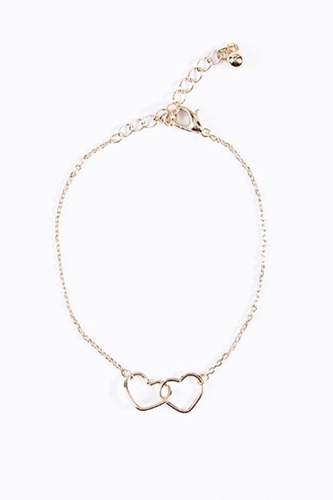 Interlinked Heart Bracelet At Urban Outfitters