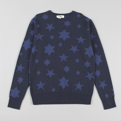 Ymc Star Knit Navy