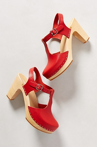 Sky High T Strap Clogs Anthropologie.Com