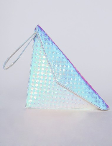 Hologram Triangle Clutch Hologram Bag 78