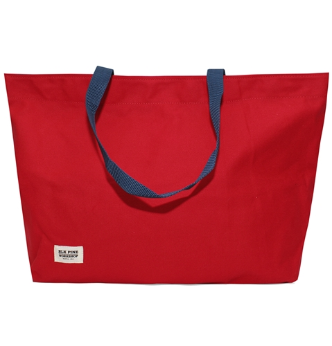 Blk Pine Simple Canvas Tote Bag In Red Huh. Store
