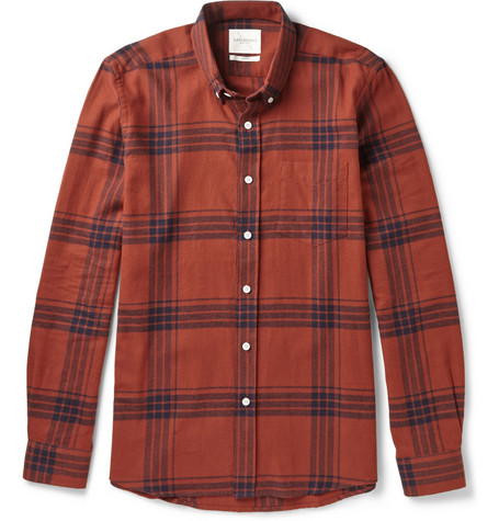 Saturdays Surf Nyc Crosby Windowpane Check Cotton Flannel Shirt Mr Porter