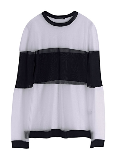 Damir Doma Women's Sheer Block Panel Kerria Knitted Sweater Ln Cc