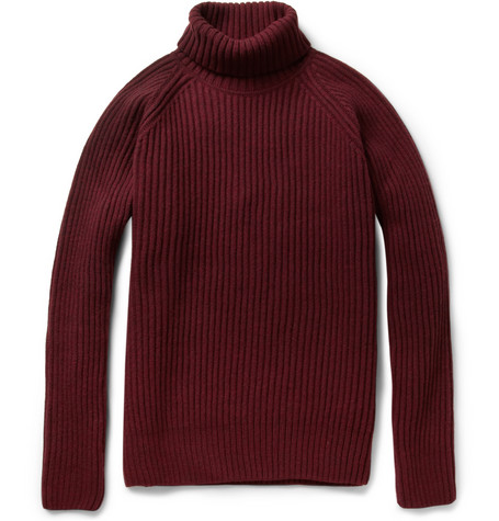 Ami Ribbed Merino Wool Blend Sweater MR PORTER