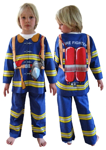 Fireman Pyjama Play Suit Shop Third Drawer Down
