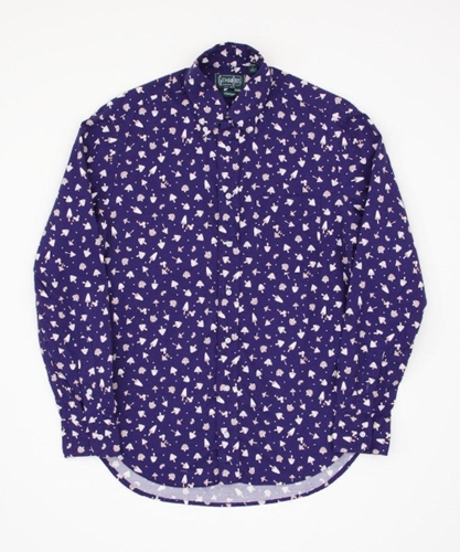 Gitman Vintage Mushroom Print Shirt Navy Superdenim