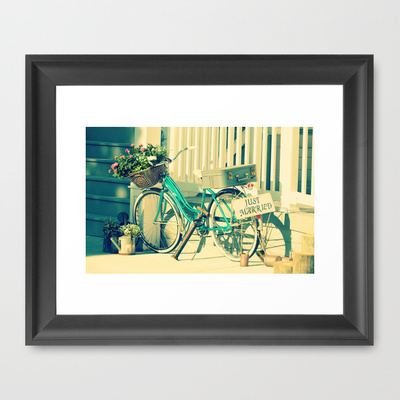 Just Married Framed Art Print by RDelean Society6