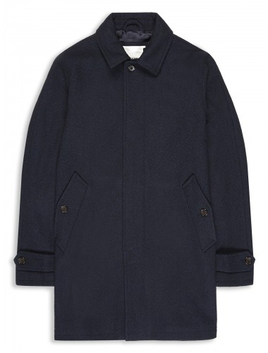 Melton Wool Car Coat Staples Navy Ben Sherman