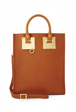 Sophie Hulme Tan Saddle Leather Mini Tote Bag By Sophie Hulme