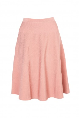 Moschino Cheap Chic Pink Horizontal Rib Full Skirt By Moschino Cheap Chic