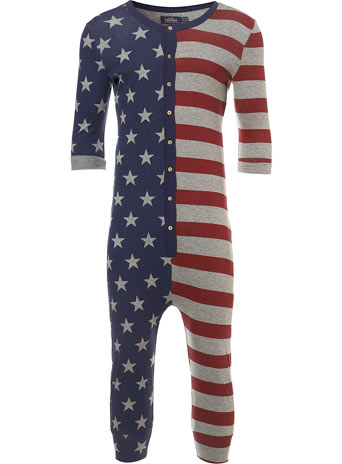 3 4 Star And Stripe All In One Pajamas Loungewear TOPMAN USA