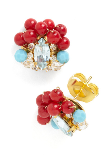Gumball Glamour Earrings Mod Retro Vintage Earrings ModCloth com